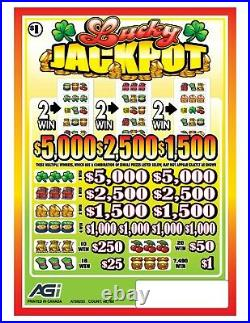 Huge $14720 Profit Lucky Jackpot, 5 Window Pull Tab Tickets, 48160 Count @ $1