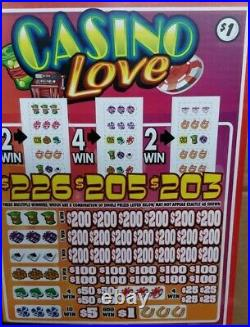 Huge $2040 Profit! Casino Love, 5 Window Pulltab Tickets, 8040 Count @ $1