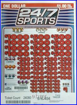 Huge $7228 PROFIT 24/7 SPORTS, PULL TAB TICKETS, 24080 COUNT @ $1