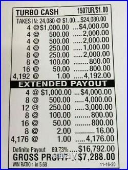 Huge $7228 Profit Free Ups Shipping Pull Tab Tickets Turbo Cash