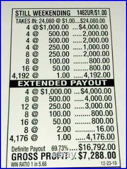 Huge $7288 Profit Free Shipping Pull Tab Tickets Still Weekending