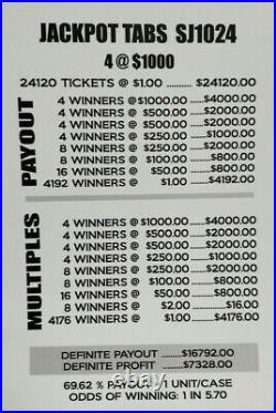 Huge $7328 Profit 2-day Shipping Pull Tab Tickets Jackpot Tabs