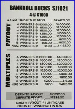 Huge $7328 Profit Fast 3-day Shipping Pull Tab Tickets Bankroll Bucks