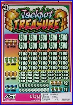Huge $8430 Profit Free Shipping Pull Tab Tickets Jackpot Treasure