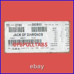 Jack Of Diamonds 2280 Pull Tabs/$1 Each $610 Profit Fundraiser Free Ship