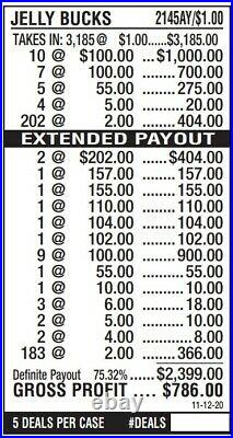 Jelly Bucks Pull tabs 3185/786p