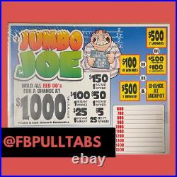Jumbo Joe 1860 Pull Tabs, $1 Each $410 Profit Fundraiser Free Shipping