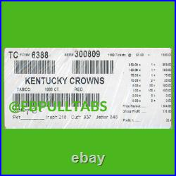 Kentucky Crowns 1680 Pull Tabs, $1 Each $376 Profit -fundraiser- Free Ship