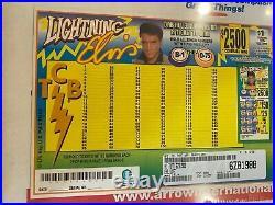Lighting Elvis Bingo Game1 Window Pull Tab 3999 Tickets Free Ship USA (48)