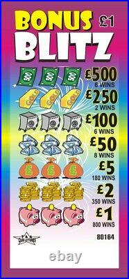 Lottery Fundraising £1 Tickets Pull Tab Tickets Charity Events Money Makers BBZ