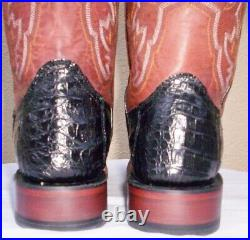 Lucchese, Black Horn Back Caiman Boots, Style# M4537, Size (9.5 B)