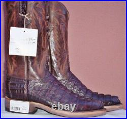 Lucchese Chocolate Brown, HBC Crocodile Tail, Style# GB6185, Size (8.5 D)