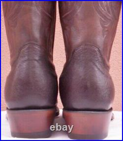 Lucchese Nathan, Smooth Ostrich Cowboy Boots, Style# N1148, Size (10 EE)