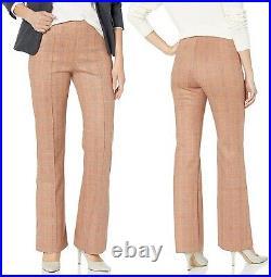 Lysse Elysse Dress Pants Scuba Medium Womens Pull On Ponte Knit Camel Plaid