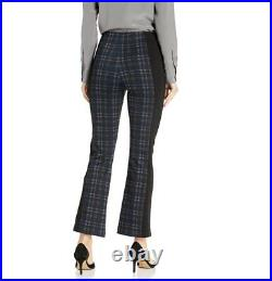 Lysse Eton Split Trouser Dress Pants Sz Medium Pull On Printed Plaid Ponte Knit