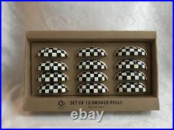 Mackenzie Childs Courtly Check WP Magnet+Hand Painted Cast Iron Drawer Pulls(12)