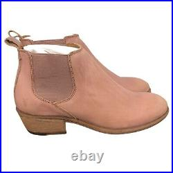 NEW Frye Carson Chelsea Ankle Boots Womens Size 6 Pale Blush Pink & Brown $248