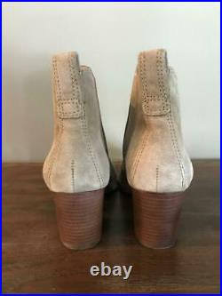 NEW Madewell $178 The Regan Boot in Suede 7-M Wet Pebble Gray Brown J8434 shoes