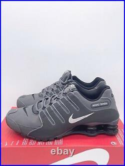 NEW Nike Shox NZ Dark Grey Metallic Iron Sneakers 378341-059 Mens Size 8