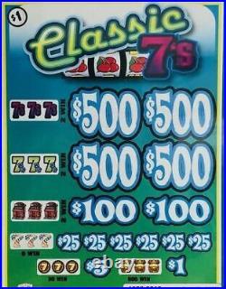 NEW Pull Tab Ticket CLASSIC 7's $1020 BIG PROFIT FREE SHIPPING