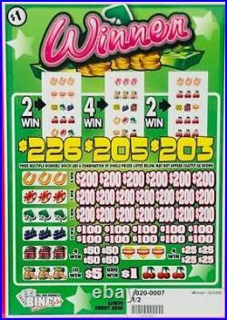 NEW Pull Tab Ticket WINNER -$2040.00 BIG $$$ PROFIT-FREE SHIPPING