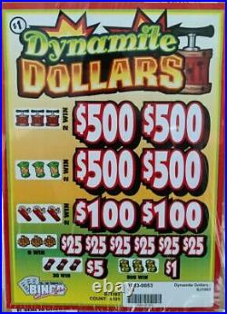 NEW pre tips pull tickets DYNAMITE DOLLARS Instant Tabs