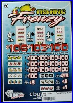 NEW pre tips pull tickets FISHING FRENZY Instant Tabs