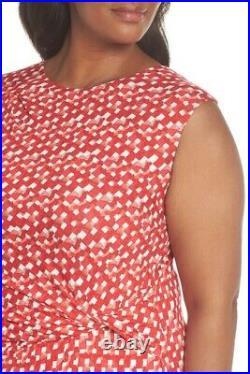 NIC + ZOE TWO TO TANGO TWIST MULTI RED DRESS sz 1X = 14W
