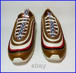 NIKE AIR MAX 97 PRM PULL TAB NSW Sportswear BROWN SAIL RED Men 11.5 AJ3053 200