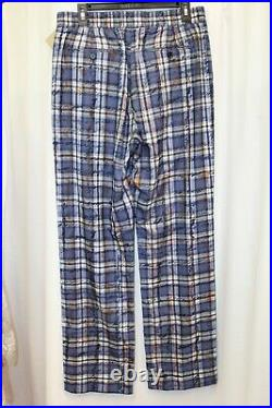 NWT Burberry Tanley Blue Check Navy Jogger Pull On Pants US 10 UK 12 44 M $590