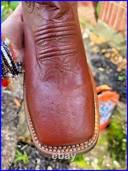 NWT DAN POST Women's Cydni Cowboy Boots (#DP4965), sz. 10M brown, multi