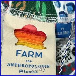 NWT Farm Rio Anthropologie Swing Paper Bag Pull On Shorts Print XL