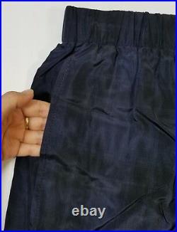 NWT Vince Plaid Slouchy Pull-On Crop Wide Leg Pants Coastal Blue Size XS $375