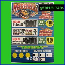 Nasball 1900 Pull Tabs, $1 Each $500 Profit Fundraiser Free Shipping