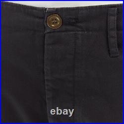 New VISVIM JAPAN 100% grey pull tab straight leg cropped pants JP2