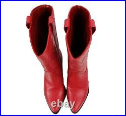 New Womens Western Cowboy Pointed Toe Knee High Pull On Tabs Boots Soda RENO-S