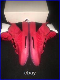 Nike Air Jordan XXXIII Size 8.5 University Black Red Quilted AQ8830 600