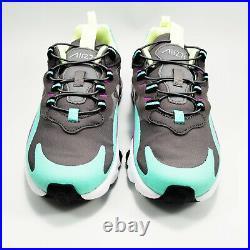 Nike Air Max 270 React (PS) Sneaker Shoes Boy's Gunsmoke BQ0102-007 SZ 2 Y NEW