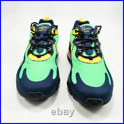 Nike Air Max 270 React Shoes Mens Electro Green / Obsidian AO4971-300 NEW IN BOX