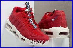 Nike Air Max 95 TT Pull Tab Pack AJ1844-600 Red Sail Size UK 7 EU 41 US 8 New