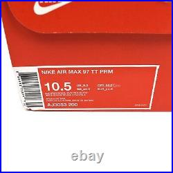 Nike Air Max 97 Ale Brown Logo Woven Pull Tab Men's Sneakers 2018 10.5 AUTHENTIC