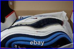 Nike Air Max 97 Se Pull Tab Obsidian University Red-sail Men's 9.5 / Aq4126-400