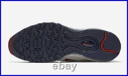 Nike MEN'S Air Max 97 TT PULL TAB Obsidian/University Red/Sail SIZE 11.5 NEW
