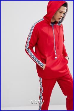 Nike MEN'S Half-Zip Taped Hoodie RED PULL TAB SIZE MEDIUM BRAND NEW