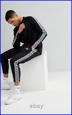 Nike MEN'S Sportswear Taped Longsleeve Top PULL TAB SIZE LARGE BRAND NEW Black