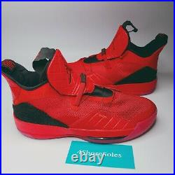 Nike Men's SIZE 17 Air Jordan 33 XXXIII University Black Red Quilted AQ8830 600