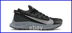 Nike Mens Pegasus Trail 2 Running Shoes Black Spruce Aura Grey Size 11 NEW