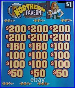 Northern Tavern' Pull Tab Tickets $818 Profit 3168 Tickets Free Shipping