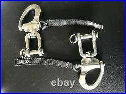 PAIR of Zilco Quick Release Pull Tabs Driving Harness Stainless Steel