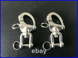 PAIR of Zilco Quick Release Pull Tabs Synthetic Driving Harness Stainless Steel